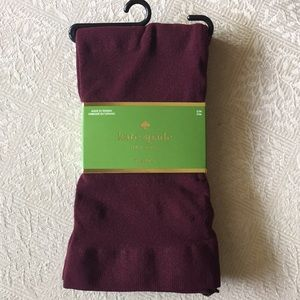 kate spade Accessories - Kate Spade Midnight Wine tights